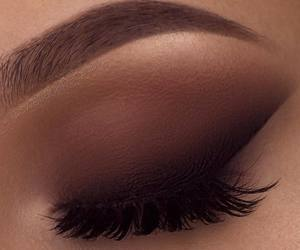 brown and makeup image
