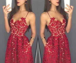 fashion, lace, and prom dress image