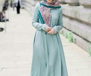 dress, girl, and hijab image