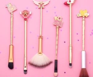 anime, Brushes, and cosmetics image