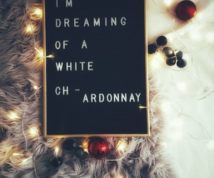chardonnay, christmas, and cosy image