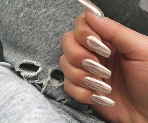 metallic, nail, and nails image