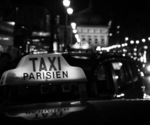 paris and taxi image