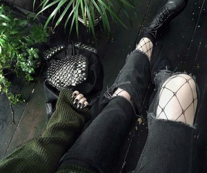 black, alternative, and green image