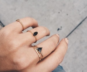 rings, accessories, and black image