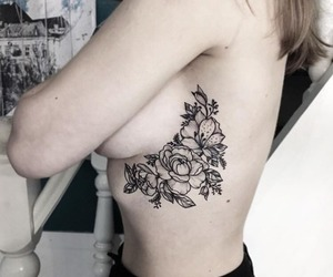 tattoo, roses, and flowers image