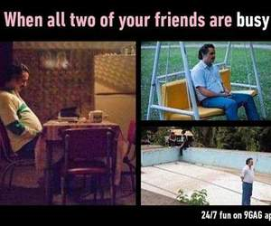 bff, funny, and loneliness image