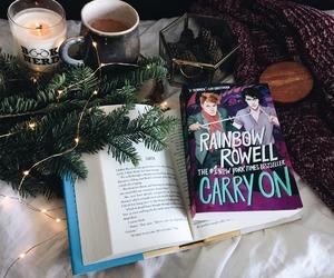 books, tea, and tree image