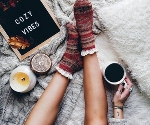 winter, cozy, and coffee image