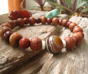beads, bracelet, and ethnic image