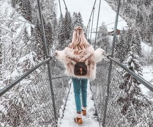 winter, snow, and girl image