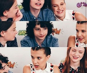 eleven, kiss, and stranger things image