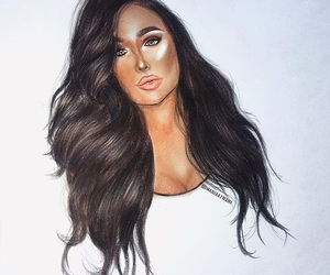 brown hair, huda kattan, and contour image