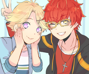 mystic messenger, yoosung, and seven image