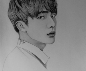 fanart, jin, and k-pop image