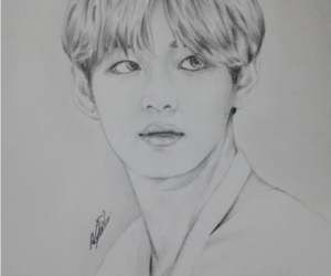 fanart, k-pop, and v image