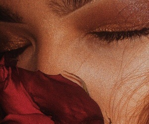 rose, aesthetic, and eyes image