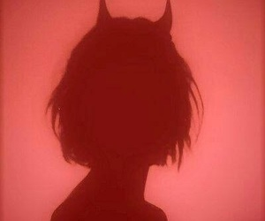 girl, Devil, and red image