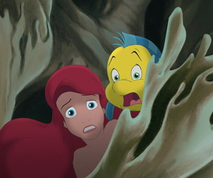ariel, princesas, and the little mermaid image