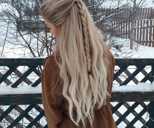 hair, winter, and girl image