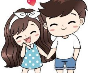 couple, cute, and wallpaper image