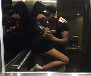 couple, Relationship, and elevator image
