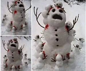 funny, snow, and snowman image
