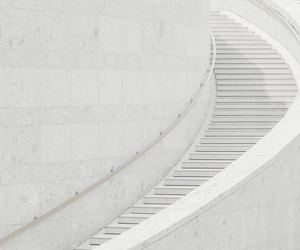 staircase, stairs, and white image