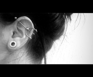 ear, me, and piercing image