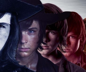 the walking dead, carl, and evolution image