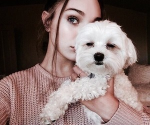 maddie ziegler, girl, and dog image