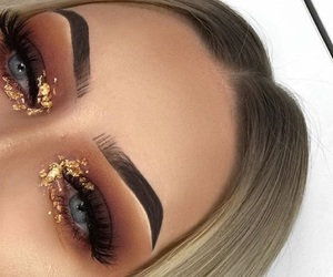 eyebrows and glitter image