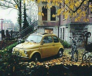 car, vintage, and fall image