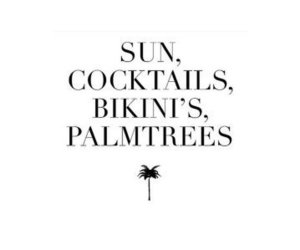 bikini, Cocktails, and summer image