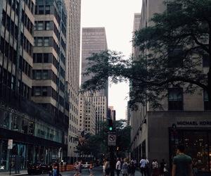 city, newyork, and street image