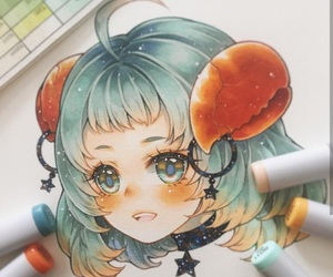 anime, girl, and zodiac signs image