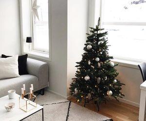 black, candles, and christmas tree image