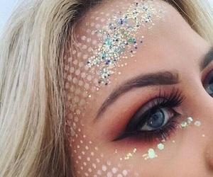 makeup, mermaid, and beauty image