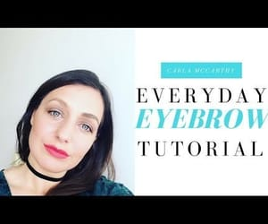 tutorial, everyday eyebrows, and video image