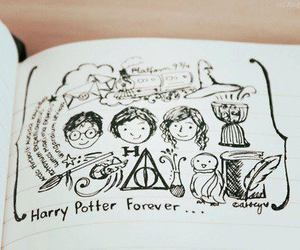 harry potter, drawing, and forever image