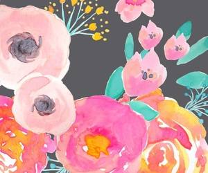 art, floral, and pink image