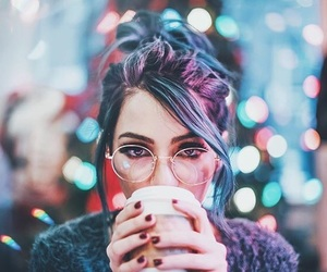 lights, coffee, and photography image