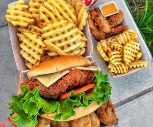 food, drink, and fast food image