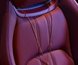 aesthetic, car interior, and burgundy image