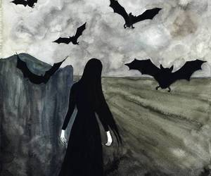 bats, black, and gothic image