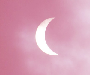 pink, moon, and pastel image