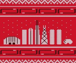 chicago, christmas, and hockey image
