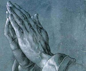 hands, art, and praying image