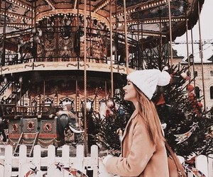 aesthetic, merry go round, and christmas image