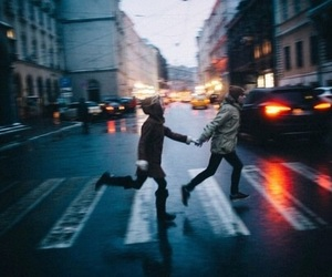 couple, city, and run image